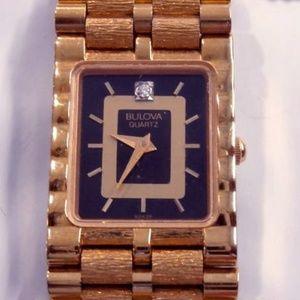 Bulova 7320  Diamond Women's Gold Watch